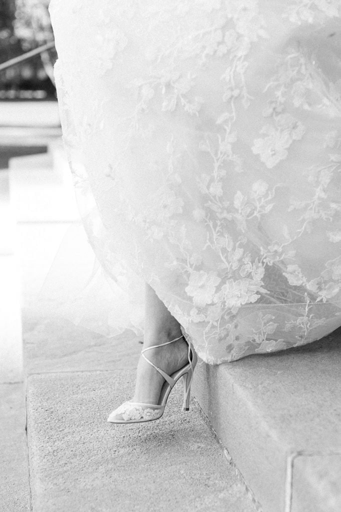 Bella Belle wedding shoes for modern fall Pittsburgh wedding at The Pennsylvanian