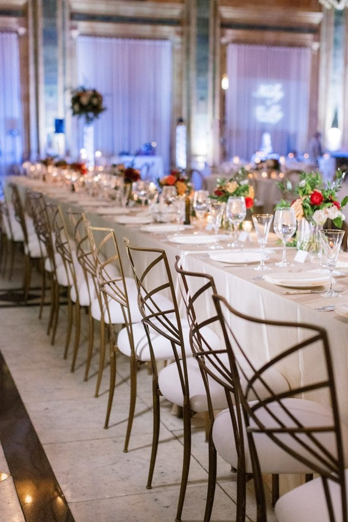 Mosaic Inc. linens at The Pennsylvanian wedding captured by Lauren Renee