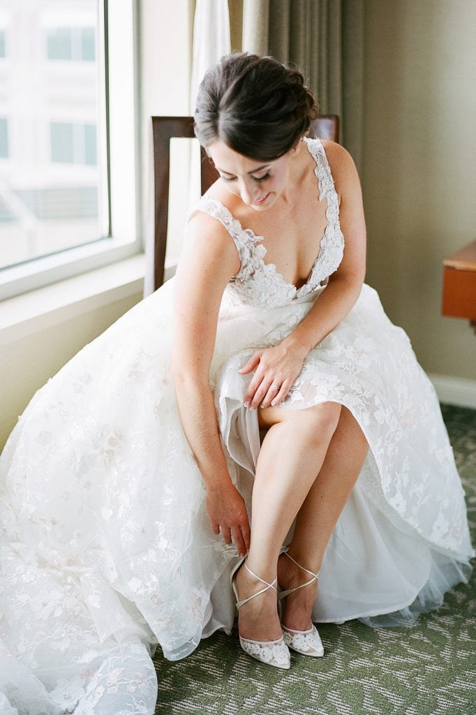 Eve of Milady wedding dress from Bridal Beginning and Bella Belle wedding shoes