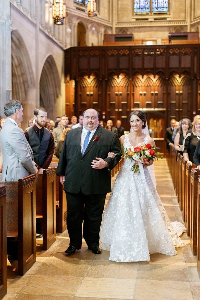 Heinz Memorial Chapel Pittsburgh wedding captured by wedding photographer Lauren Renee