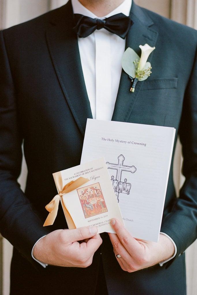 Wedding Programs outside the church
