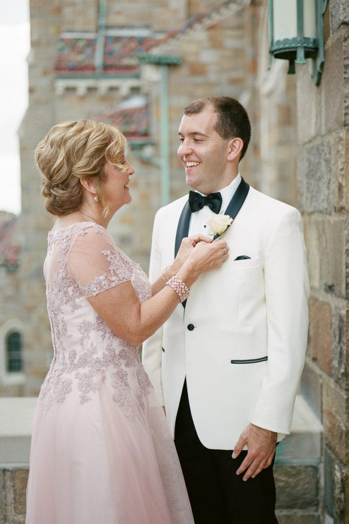 Mother of the Groom Portrait: White and Gold Pittsburgh Field Club Wedding captured by Lauren Renee
