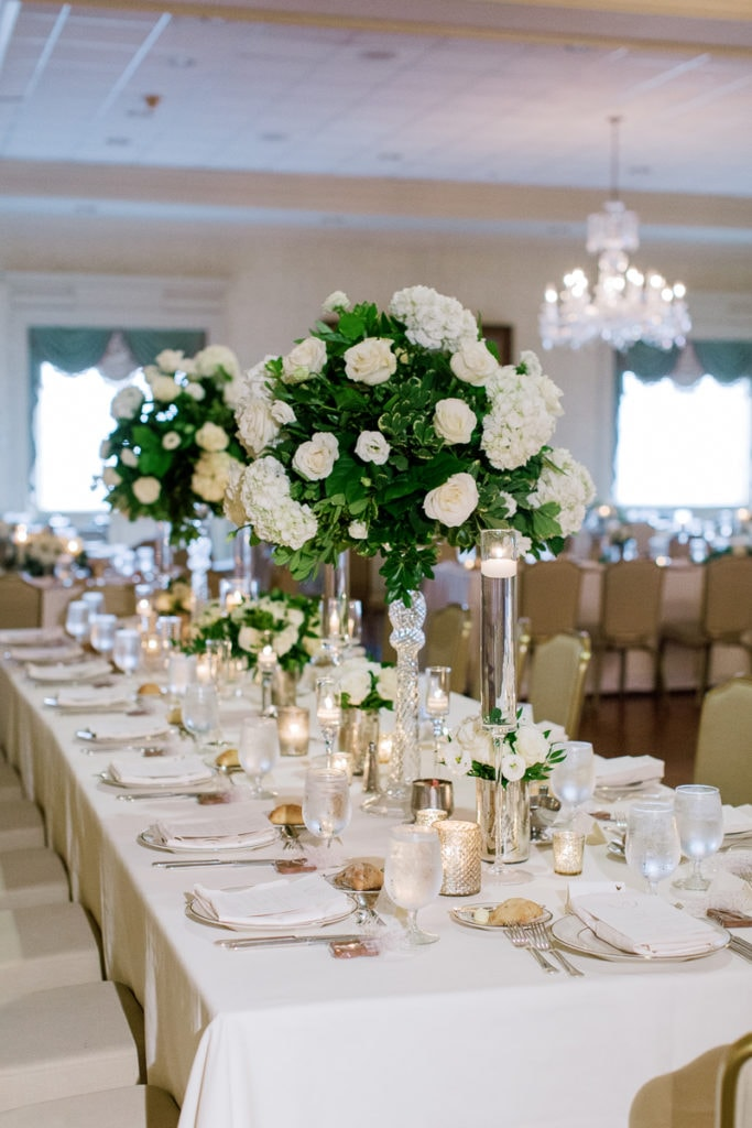 Elegant Wedding Table Decor: Pittsburgh Field Club Wedding by Pittsburgh Photographer Lauren Renee