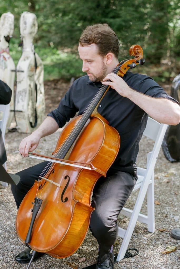 Wedding ceremony musicians: Outdoor Fall Seven Springs Wedding captured by Pittsburgh Wedding Photographer Lauren Renee
