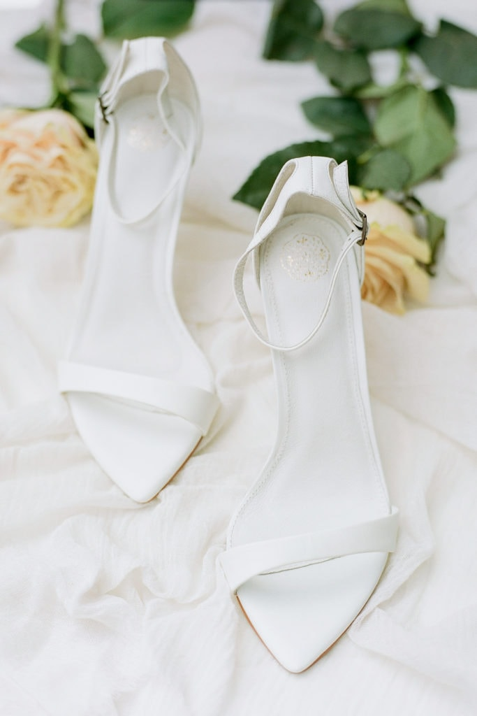 White wedding shoes: Outdoor Fall Seven Springs Wedding captured by Pittsburgh Wedding Photographer Lauren Renee