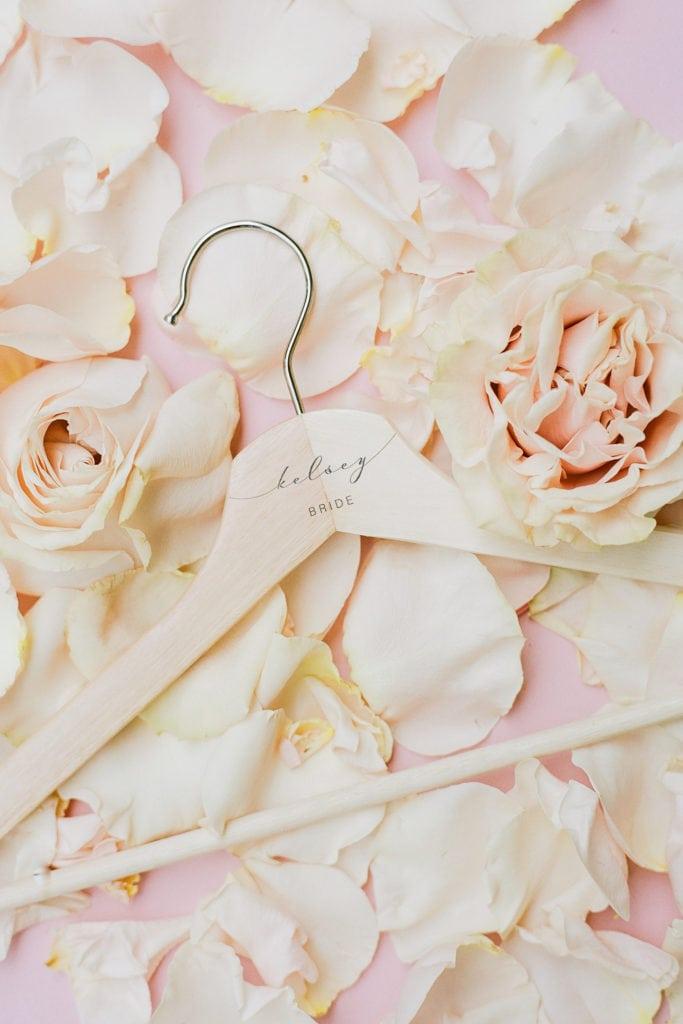 Bridal party wedding hanger: Outdoor Fall Seven Springs Wedding captured by Pittsburgh Wedding Photographer Lauren Renee