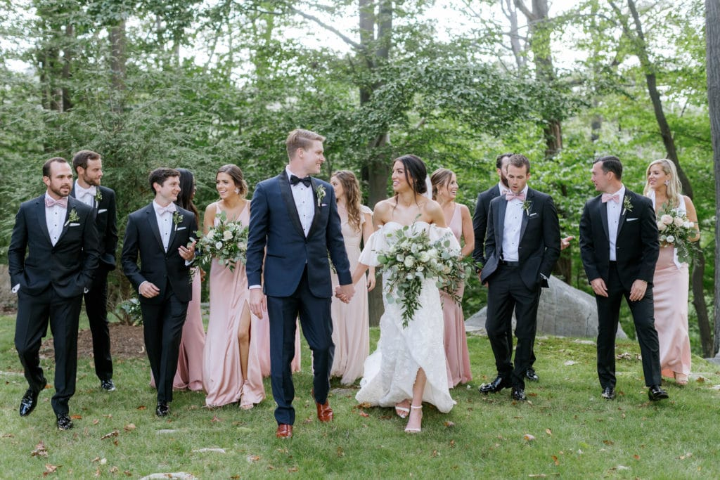Wedding party photography: Outdoor Fall Seven Springs Wedding captured by Pittsburgh Wedding Photographer Lauren Renee