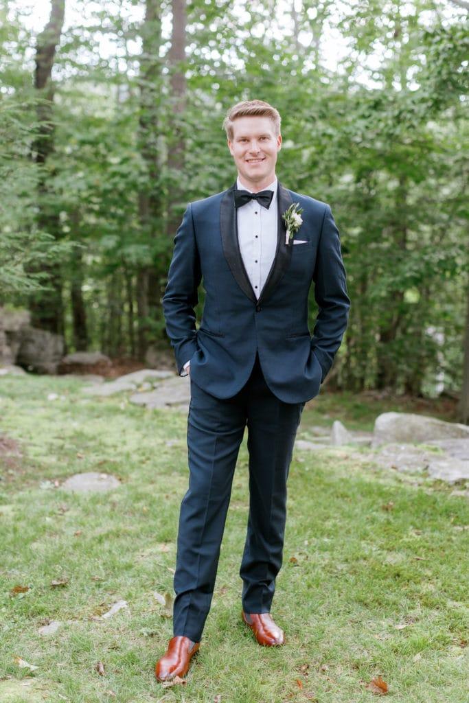 Grooms portrait: Outdoor Fall Seven Springs Wedding captured by Pittsburgh Wedding Photographer Lauren Renee
