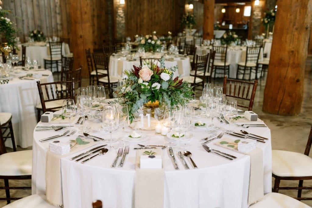 Wedding table decor: Outdoor Fall Seven Springs Wedding captured by Pittsburgh Wedding Photographer Lauren Renee