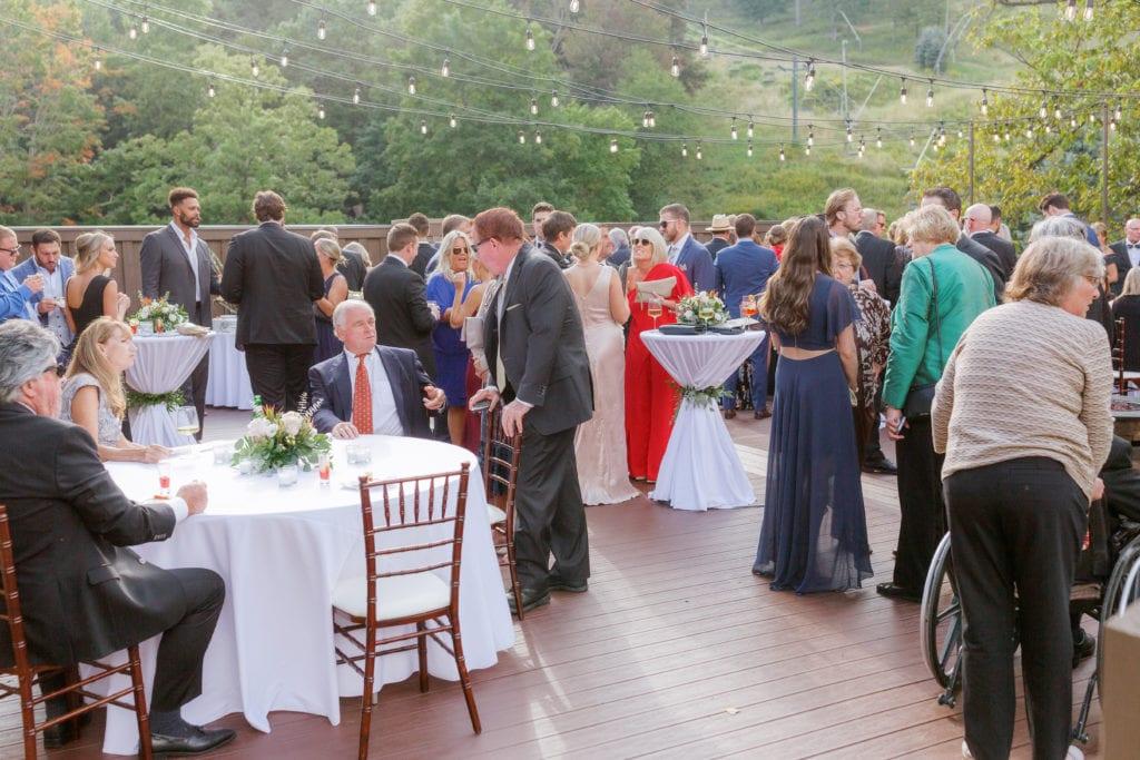 Wedding cocktail hour: Outdoor Fall Seven Springs Wedding captured by Pittsburgh Wedding Photographer Lauren Renee