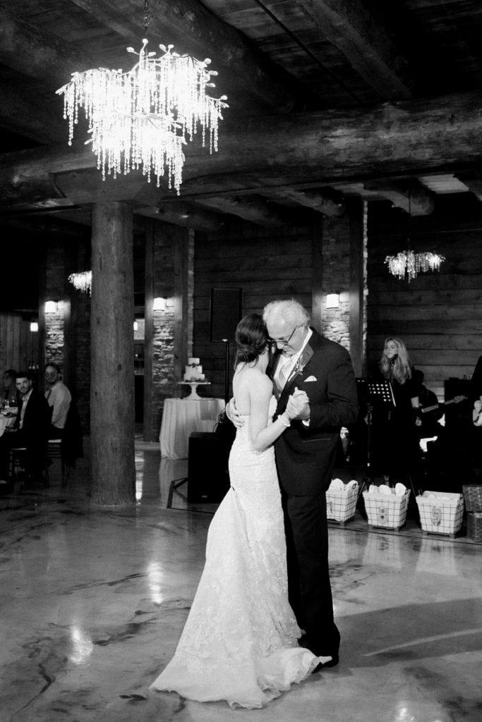 Father daughter dance: Outdoor Fall Seven Springs Wedding captured by Pittsburgh Wedding Photographer Lauren Renee