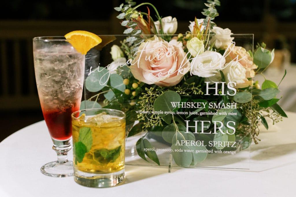 Wedding signature drinks: Outdoor Fall Seven Springs Wedding captured by Pittsburgh Wedding Photographer Lauren Renee