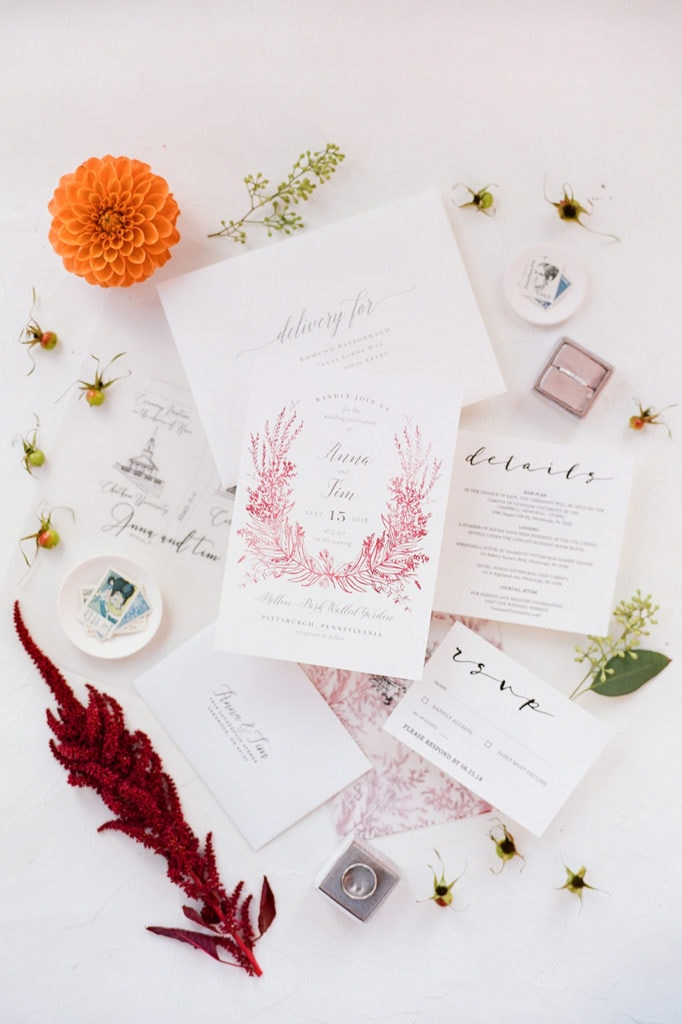 Wedding Invitation Design: Elegant Mellon Walled Garden Pittsburgh Wedding by Lauren Renee