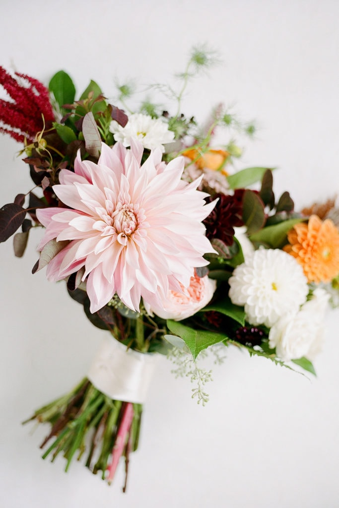 Dahlia wedding bouquet: Elegant Mellon Walled Garden Pittsburgh Wedding by Lauren Renee