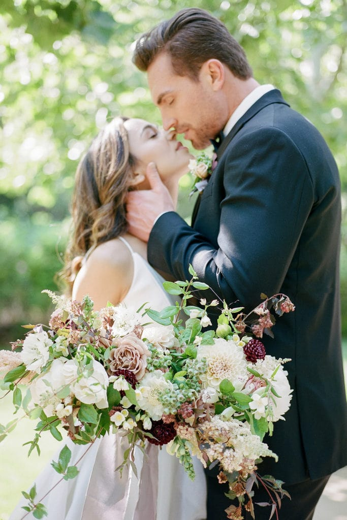 Beautiful couple: Kestrel Park California Wedding Inspiration Styled Shoot captured by Pittsburgh Wedding Photographer Lauren Renee