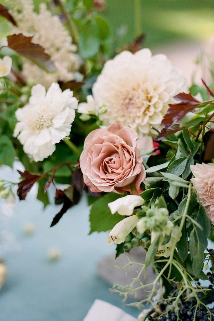 Close up details of Emily Reynolds Design florals