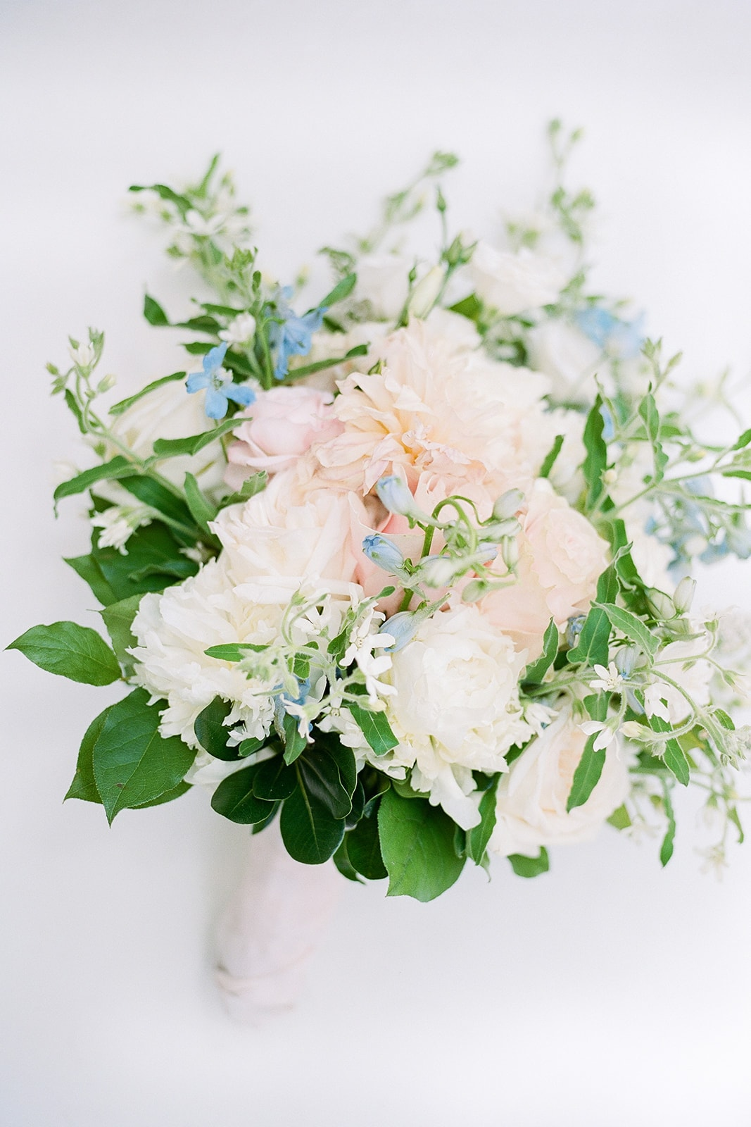 Mount Lebanon Floral bridal bouquet with pink peonies and white roses