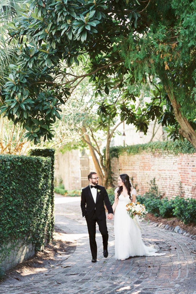 Watters Dress and Bonobos Tux Charleston South Carolina Intimate Wedding: 5 things i learned from my own wedding
