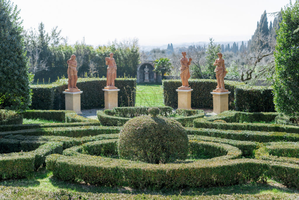 Villa Catignano Gardens in Florence Italy