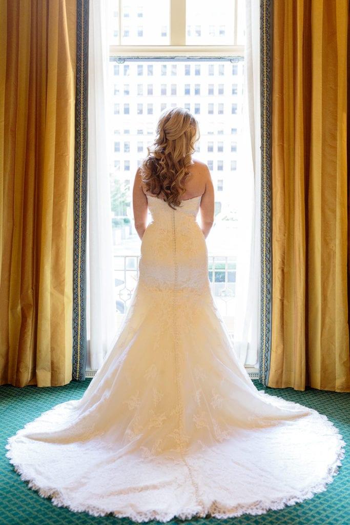 Matthew Christopher wedding dress bridal portrait