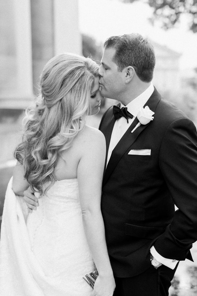 Black and white wedding photography by Lauren Renee