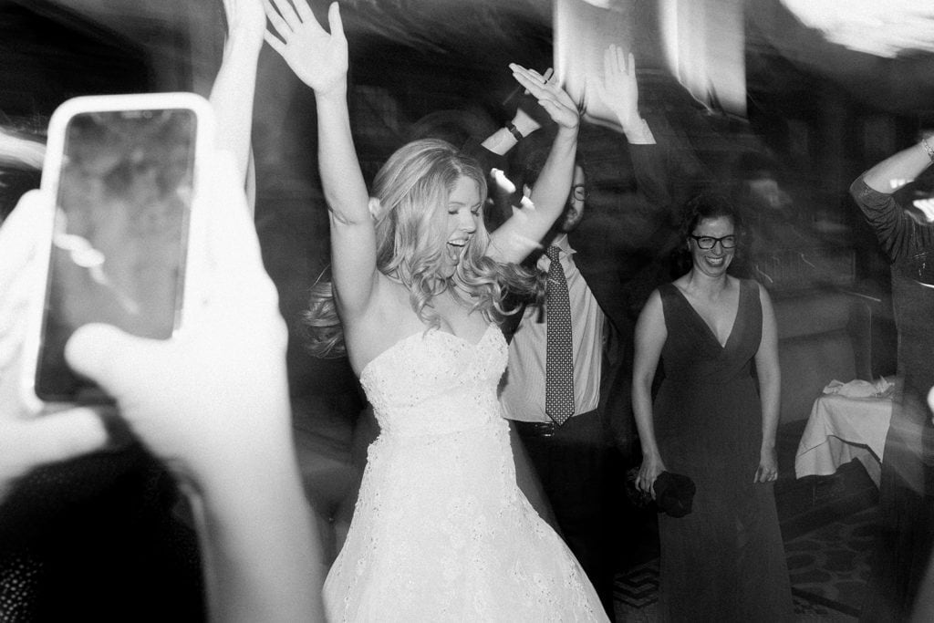 Bride dancing at Grand Concourse Pittsburgh Wedding