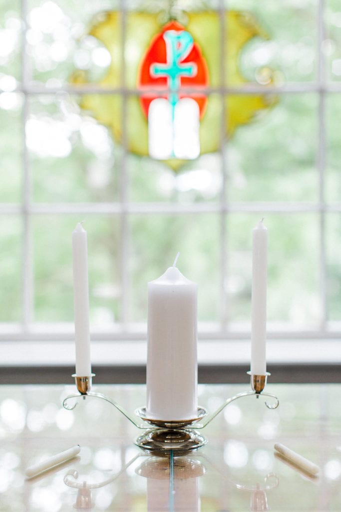 Unity candle for Fox Chapel wedding ceremony