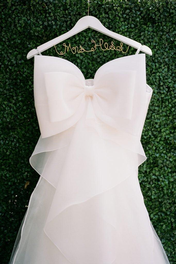 Badgley Mischka wedding dress with back bow