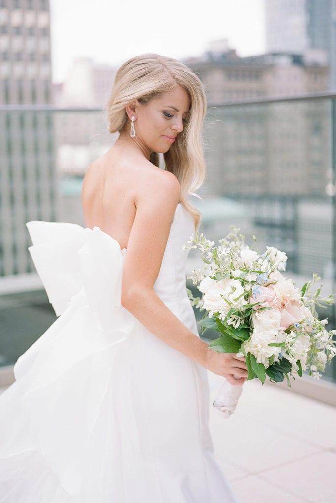 Bridal portrait on Hotel Monaco rooftop