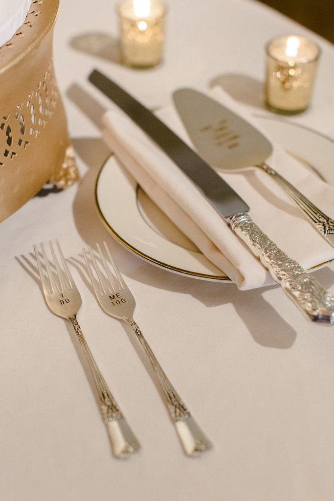 Wedding utensils for the bride and groom