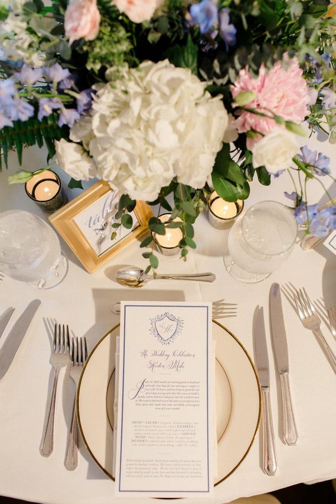 Pittsburgh Field Club wedding table decor