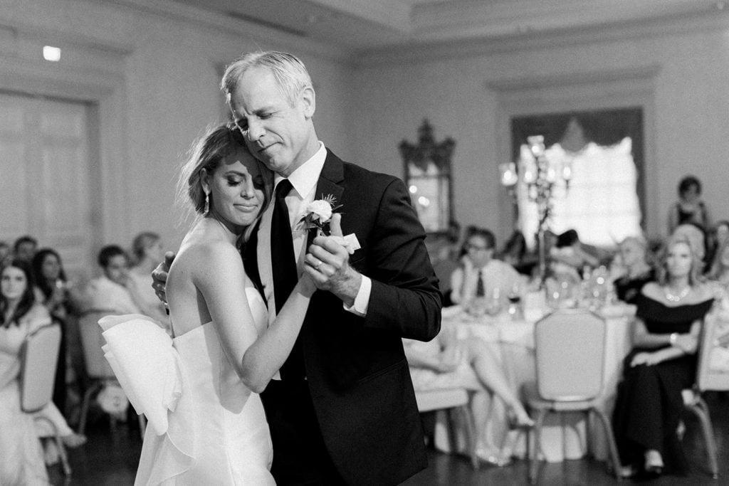 Father daughter dance at Pittsburgh Field Club wedding