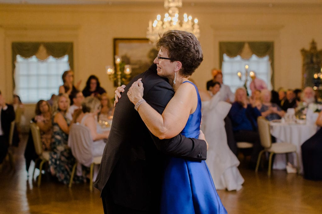 Mother son dance at Pittsburgh Field Club wedding