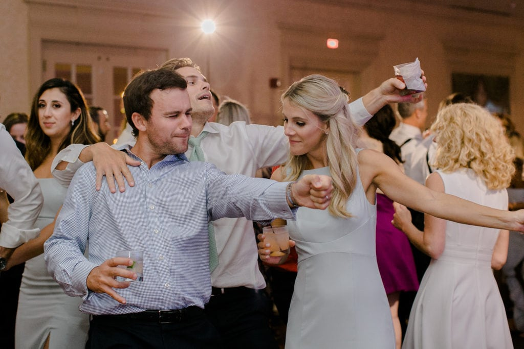 Guests dancing at Pittsburgh Field Club wedding
