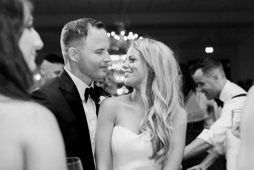 Bride and groom portrait Pittsburgh Field Club wedding