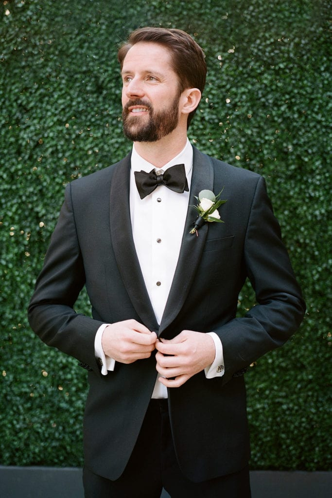 Grooms portrait at Pittsburgh's Hotel Monaco