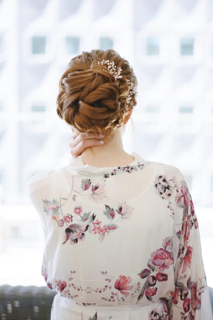 Beauty Justified Pittsburgh wedding hair
