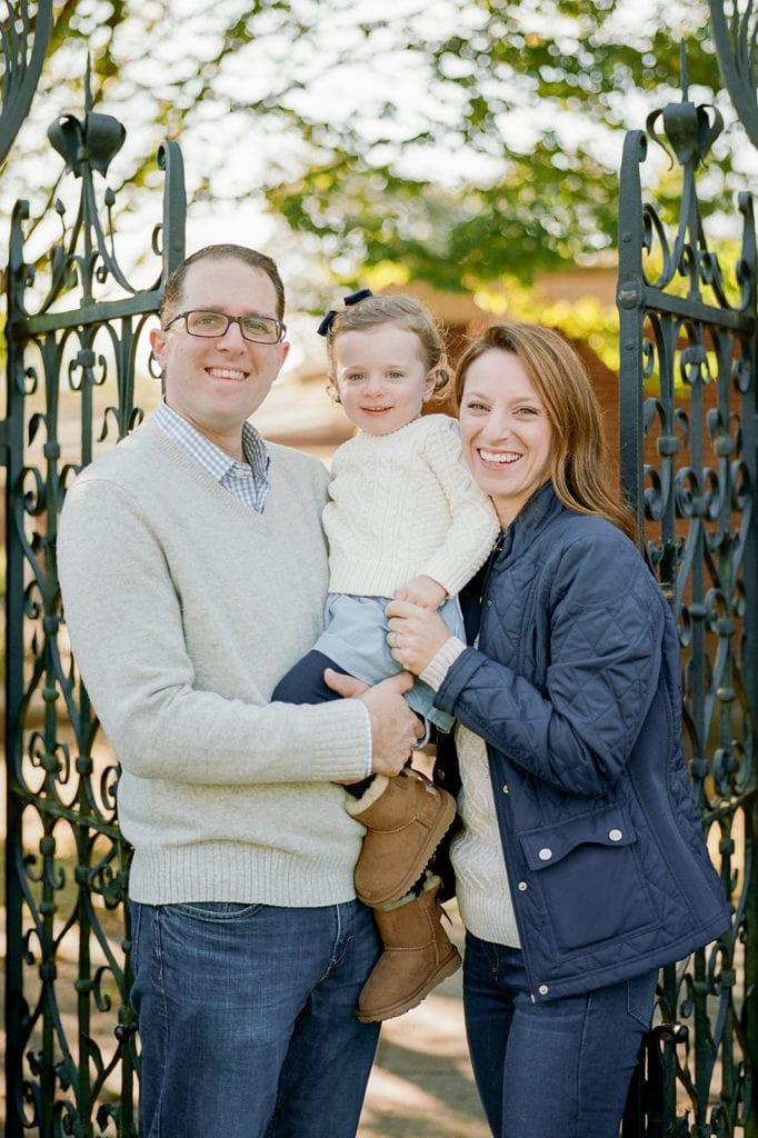 Family portrait at Mellon Park by Lauren Renee Photography