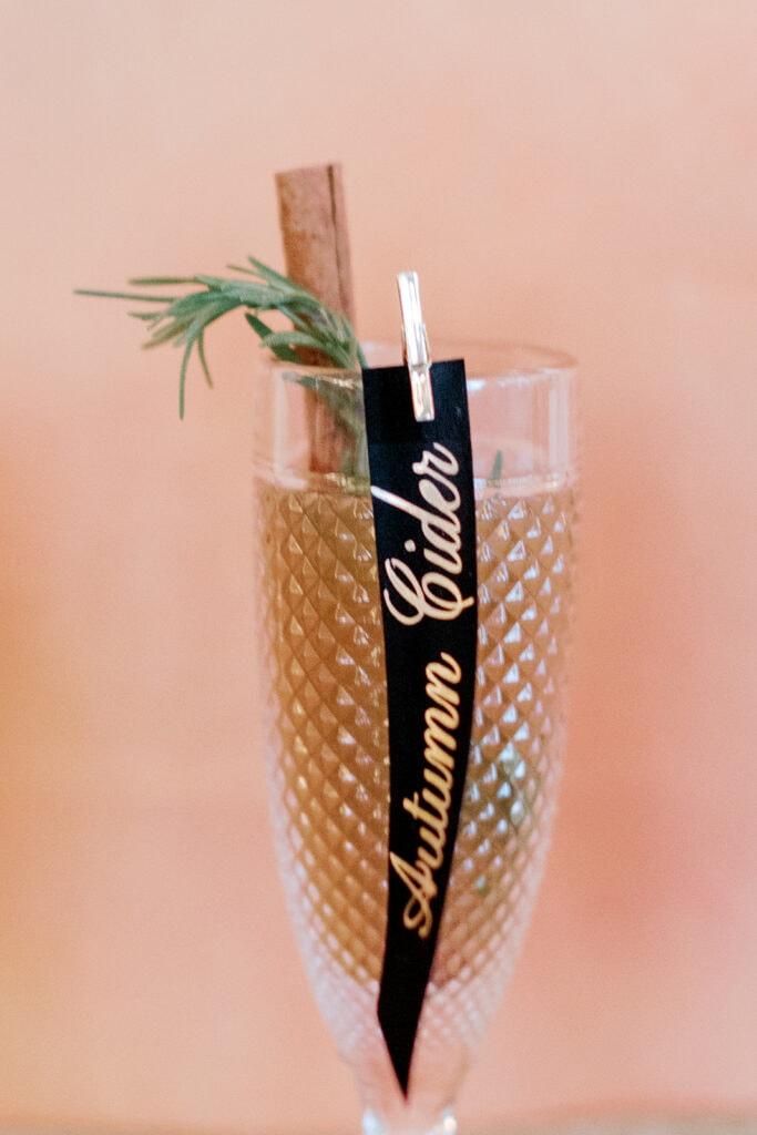 Autumn cider wedding drink ideas