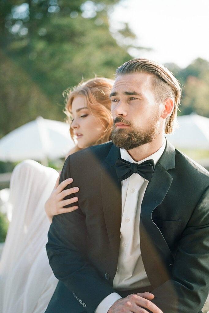 Modern groom's attire