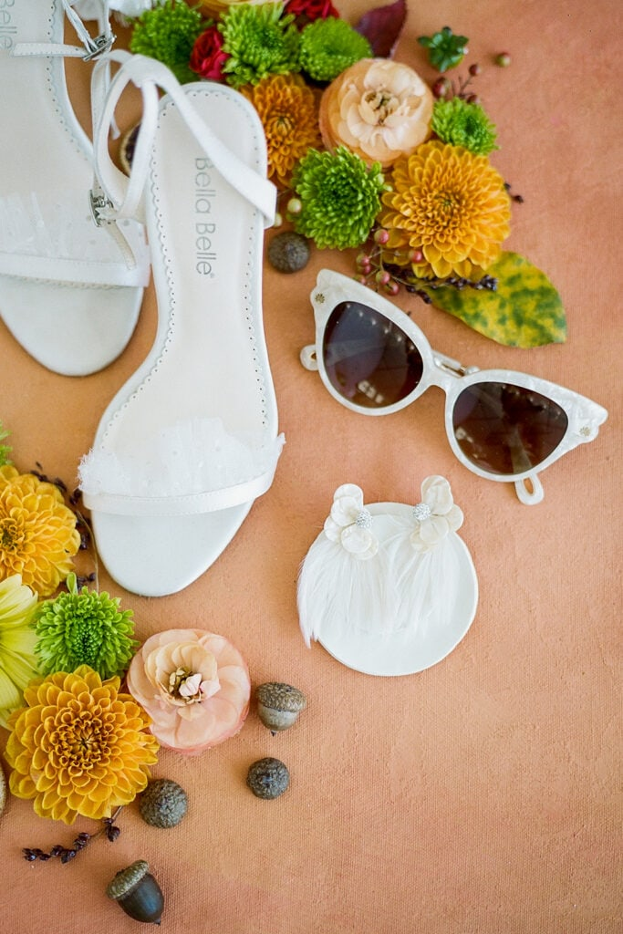 Chic white wedding sunglasses