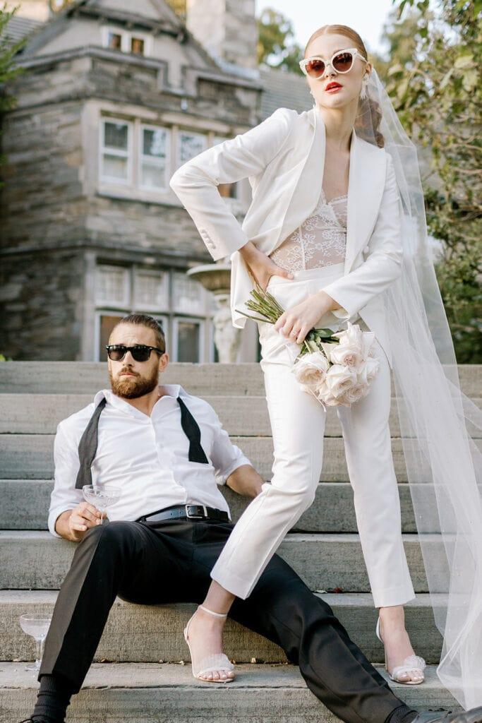Ivory bridal suit