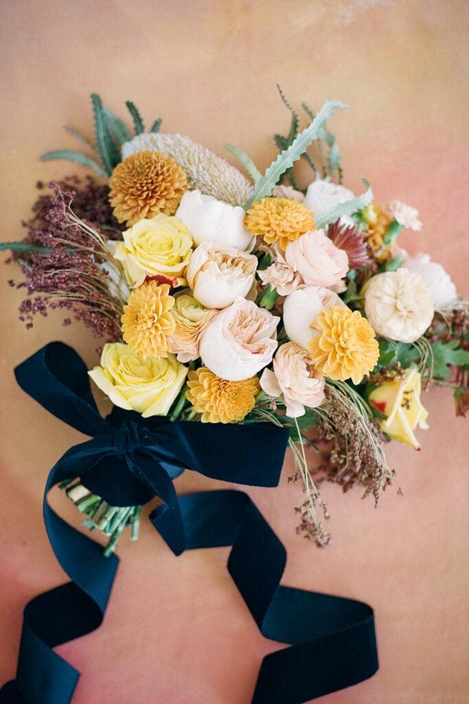 Marigold yellow wedding bouquet