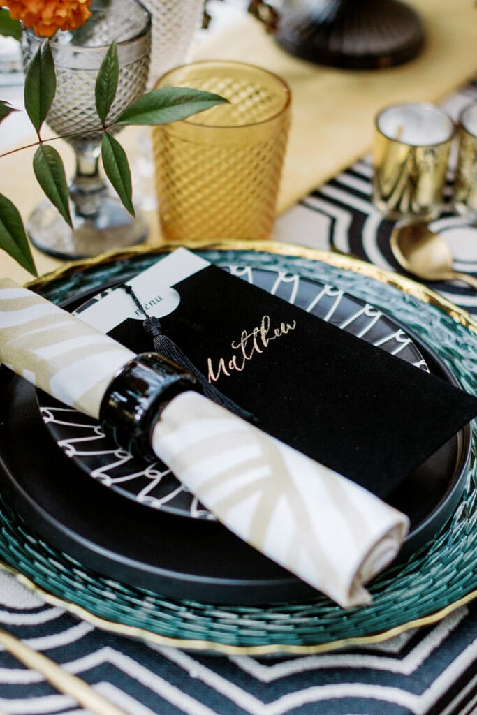 Velvet wedding escort cards