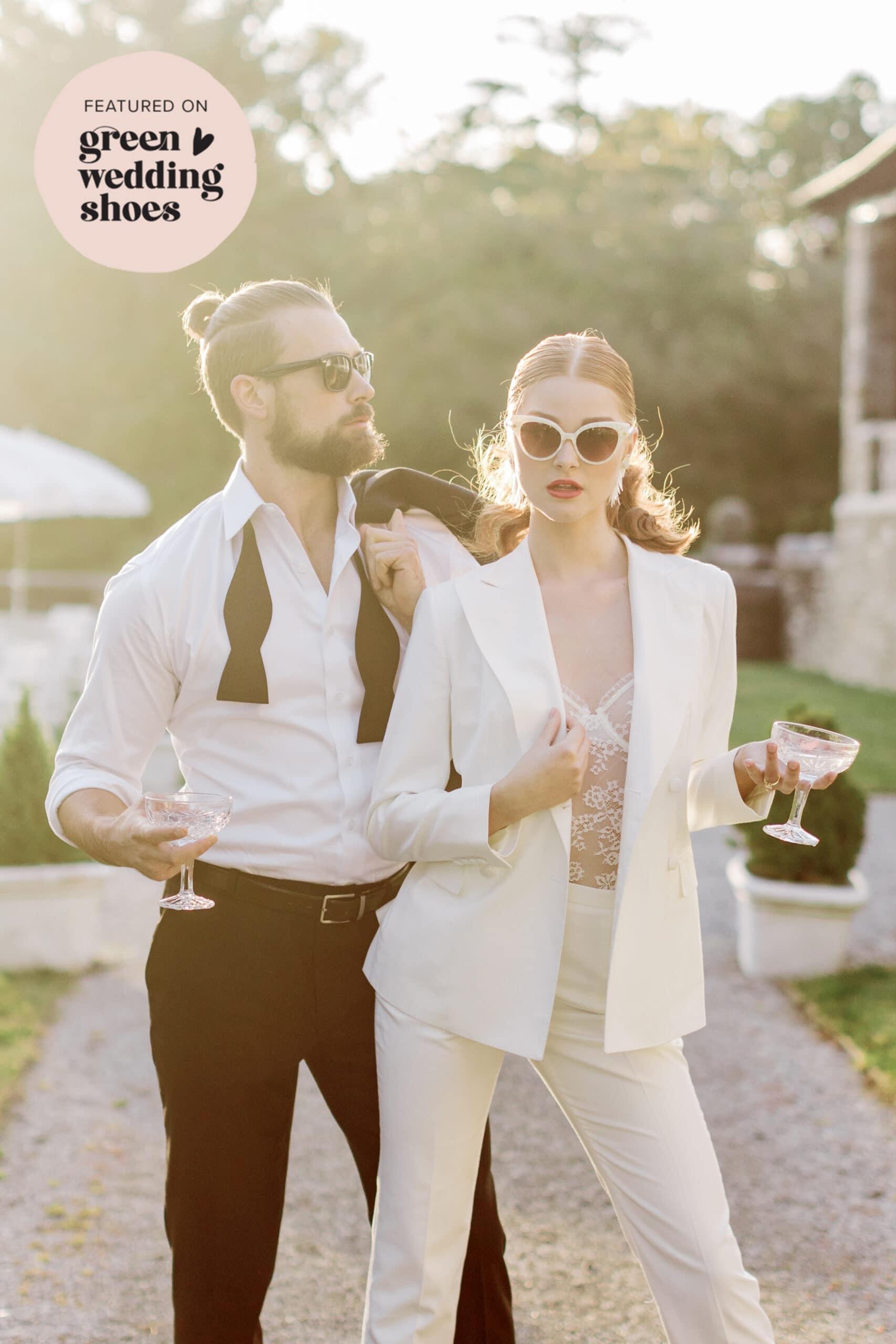 Retro chic wedding style