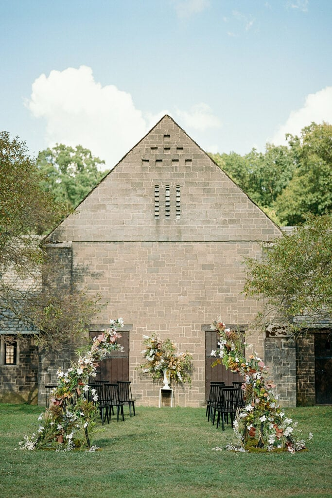 The Stables at Hartwood outdoor wedding ceremony ideas