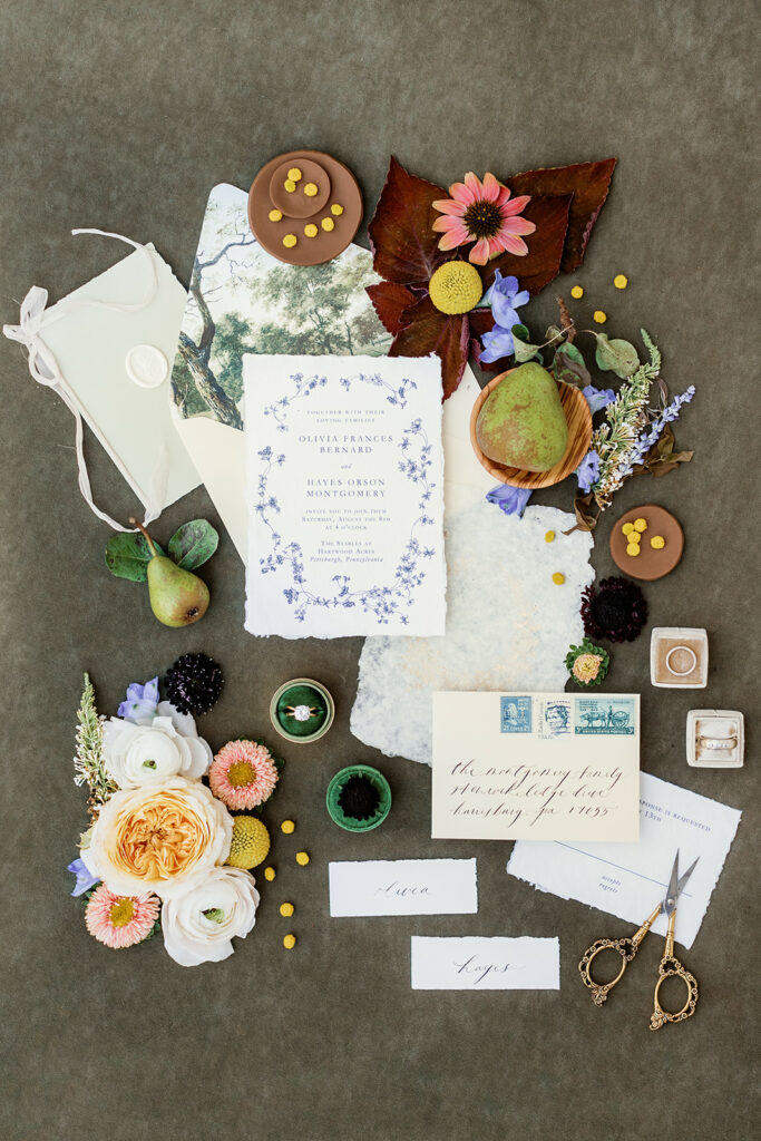 Every Little Letter wedding invitation suite