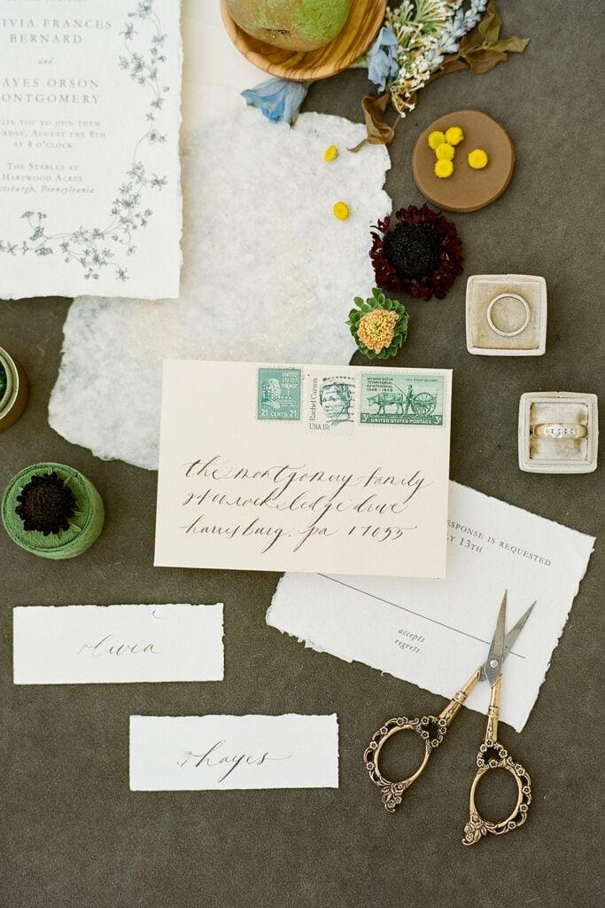 Every Little Letter wedding envelope design