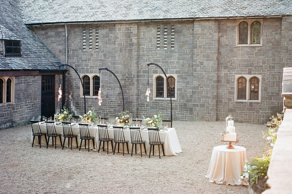 Outdoor stables wedding inspiration