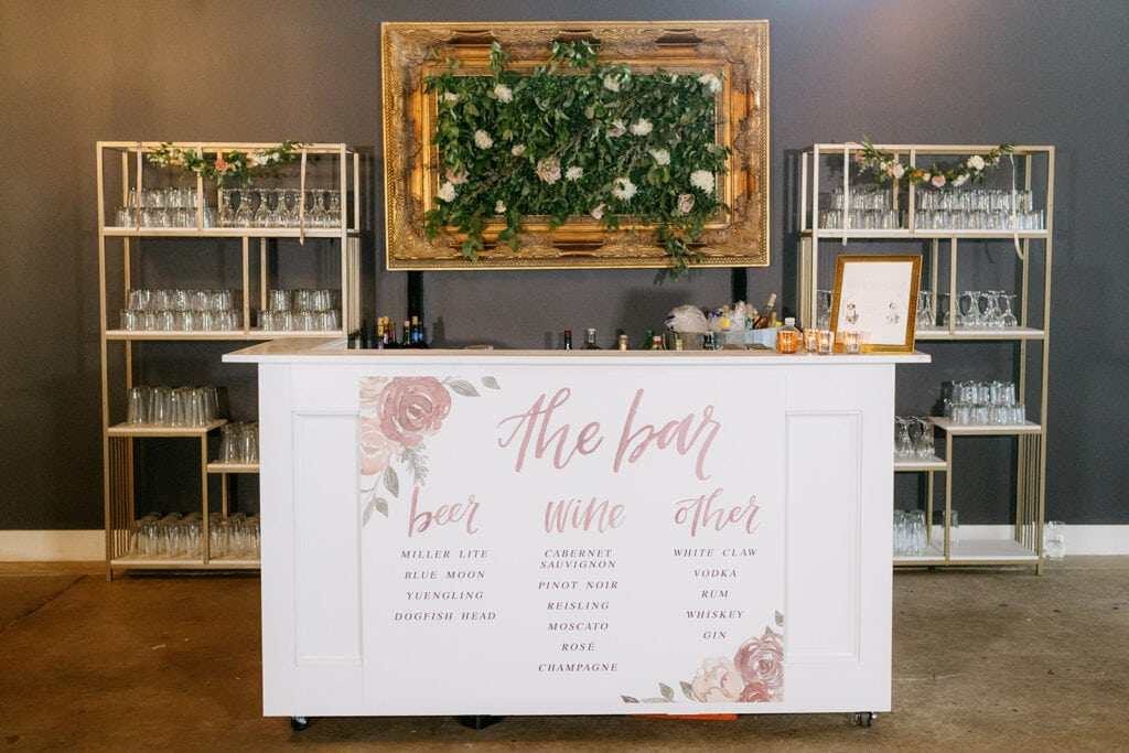 Upscale wedding bar design